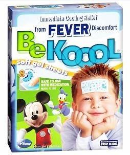 美国 Be koool 儿童专用柔软啫喱退热贴 4片装