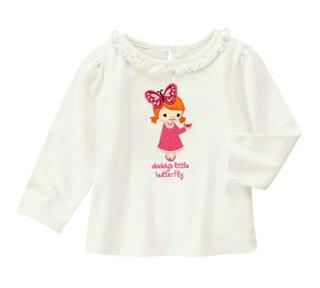 Gymboree金宝贝女童可爱女孩蝴蝶长袖T恤5岁