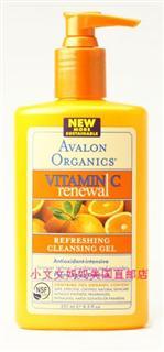 美国直邮 Avalon阿瓦隆天然有机维C美白亮肤抗氧化洗面啫喱250ml