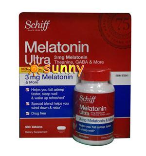 免运费包美国直邮Schiff MelatoninUltra脑白金褪黑素助睡眠300粒