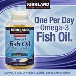 美国Kirkland Omega-3 Fish Oil 1200mg高浓度深海鱼油 180粒