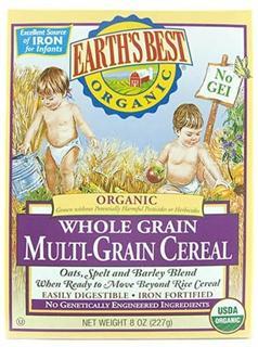 美国 Earth's Best 世界最好高铁婴儿混合谷物米粉(三段)227g/盒