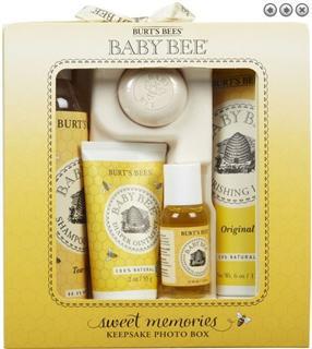 美国Burt's Bees小蜜蜂婴儿洗护套装 新生儿礼盒 宝宝旅行装5件套