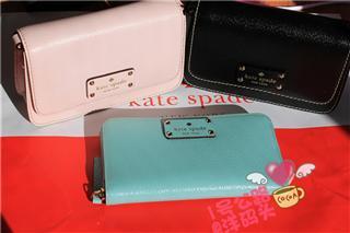 Kate Spade新出颜色 经典款纯牛皮长款钱包 WLRU1153