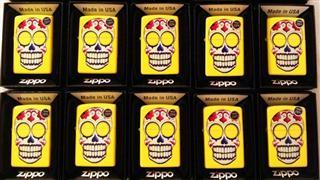 美国直邮 美国制造 Zippo芝宝打火机 黄色骷髅Skull Pocket 个性