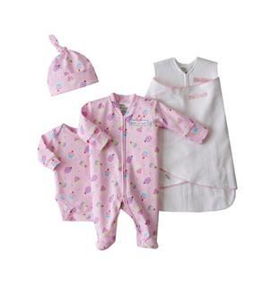 美国直邮 HALO婴儿睡袋/新生儿包巾/睡袋+联体衣+哈衣套装