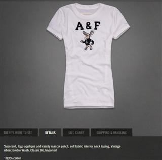 【特价】AF女士 短袖 圆领纯棉 小鹿logo T恤NEVE 白色