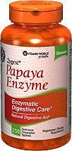 免运费包美国直邮Vitamin World青木瓜酵素减肥丰胸美容养颜250片