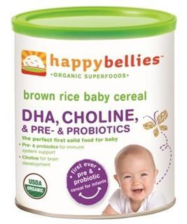 美国 Happy Baby 有机糙米婴儿1段米粉(添加DHA和益生菌)