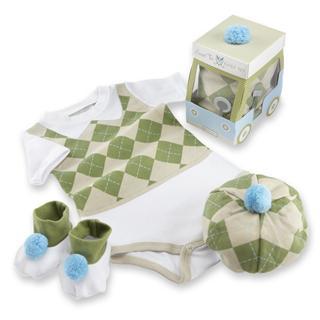 美国Baby Aspen宝宝连体衣礼盒套装新生礼物 0-6个月 小绅士