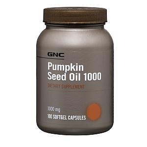 免运费包美国直邮GNC男性南瓜籽油胶囊1000mg100粒预防前列腺肥大