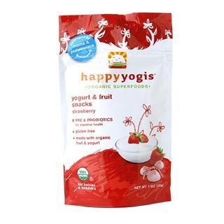 美国直邮 禧贝happy baby有机混合草莓酸奶溶溶豆 进口婴儿零食