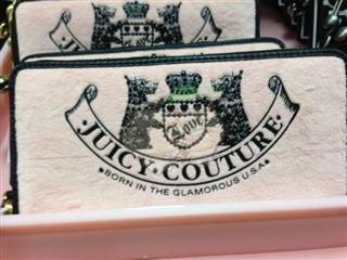 美国代购 Juicy Couture/橘滋 经典小狗图案 女士长款钱包YSRUO91