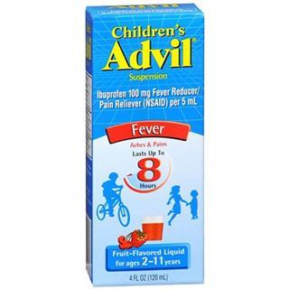 美国直邮 ADVIL 8小时效力儿童退烧糖浆120ml感冒退烧必备2-11岁