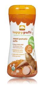 美国直邮 HappyBaby有机全麦泡芙婴幼儿零食 番薯草莓品味 2罐组合