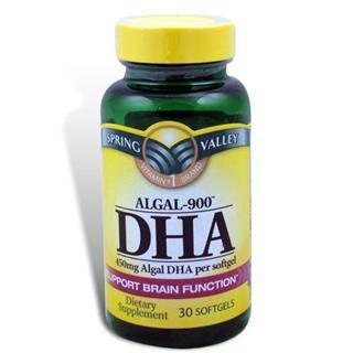 免运费包美国直邮Spring Valley海藻Algal-900 DHA 450mg30粒 适合中老年