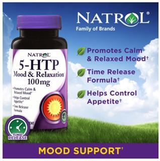 美国 Natrol 5-HTP抗焦虑安神心情调节片 五羟色氨酸100mg 150粒