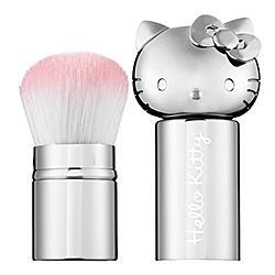 hello kitty Retractable Kabuki Brush - Silver 粉刷  不退不换
