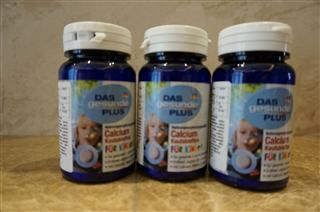 捷克代购 DAS gesunde PLUS儿童咀嚼钙片/草莓酸奶味/40粒