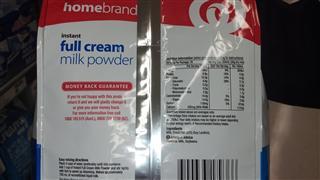 澳洲woolworths homebrand成人全脂速溶奶粉1kg 2包包邮