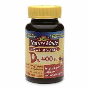 Nature Made Kids 儿童维他命D3 软咀 香橙味 120粒