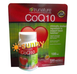 特价!免运费!包美国直邮TruNature CoQ10辅酶Q10 100mg 150粒