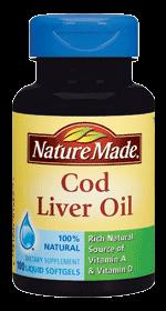 Nature Made Cod Liver Oil 鳕鱼肝油 液体软胶囊 健脑增智