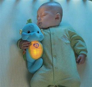 美国直邮 Fisher price 费雪声光安抚小海马 婴幼儿安抚玩具