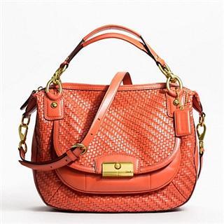 美国直邮:正品蔻驰最新真皮包 Kristin Woven Leather F23048