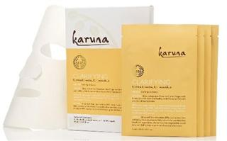 美国正品現貨Karuna深層清潔面膜4片包装*去痘痘淡痘印收毛孔