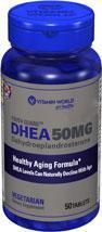 免运费!包美国直邮Vitamin World 青春素 DHEA 50mg 50片