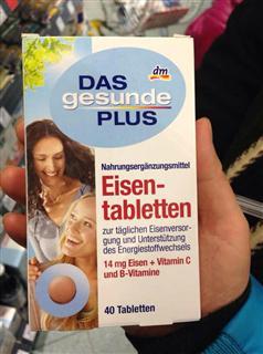 捷克代购Das Gesunde Plus 补铁补血片(维他命C+维他命B)40片