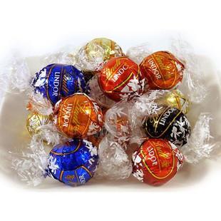 瑞士莲lindt lindor软心球巧克力混合礼袋600g 5种口味