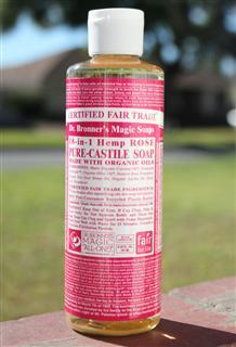 美国直邮Dr.Bronner's布朗博士有机玫瑰精油洁颜露237ml 北美畅销