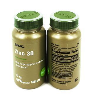 美国直邮GNC葡萄糖酸锌 100粒 锌片 100mg