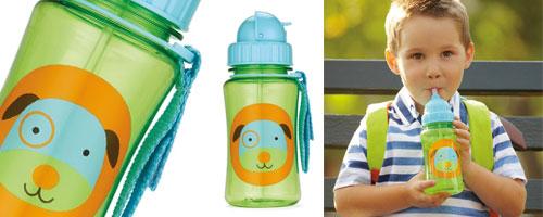 海外直发 skip hop儿童动物园吸管杯 宝宝学饮杯水杯水壶 防漏不含bpa